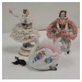 Von Schiermolz & others porcelain figurines