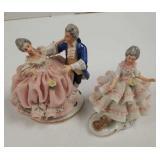 Dresden Victorian irish porcelain figurines