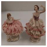 Dresden Irish porcelain ballerina figurines