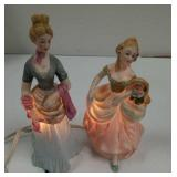 Rice & Co Inc Victorian figural lamps