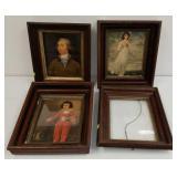 Vintage prints in frames