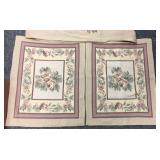 Beige rose floral bed cover and pillow covers