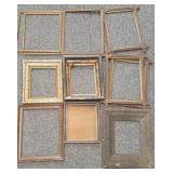 Group of vintage wooden frames