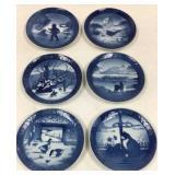 Royal Copenhagen Porcelain Christmas plates