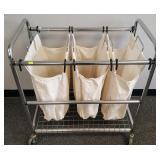 Metal cart laundry basket