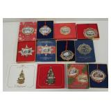 24kt Gold plate white house ornaments