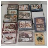 Group of Christmas greeting cards