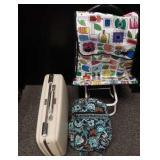 Vera Bradley book bag, travel cart & luggage