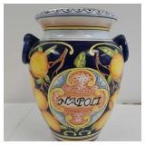 Large glazed pottery vase