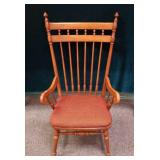 Grand wooden wing back chair