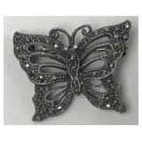 Vintage sterling butterfly pin