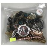 Bag of assorted jewelry and watches