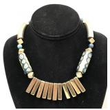 Pretty South American style necklace with blue