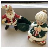Santa and Mrs Claus figures