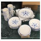 Carrigaline Pottery Co Ltd 6 piece China set.