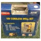 18v American Tool Exchange Cordless Drill Set