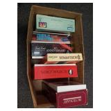 Group of vintage board games