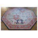 Beautiful octagonal oriental style rug