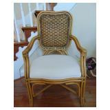 Bamboo framed designer armchair