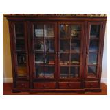 Nice glass front bookcase by Broyhill