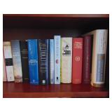 Shelf lot of asst books