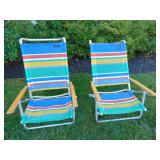 Pair of folding beach chairs