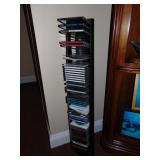 Lot of 45+ CDs, games on stand