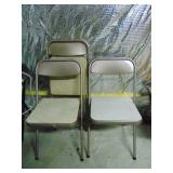 Set of 3 vintage Somsonite folding chairs