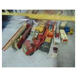 Lot of asst vintage toy cars, trucks