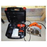 Black & Decker circular saw & 12 volt drill in