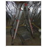 Little Giant ladder w/ platform and leg leveler