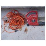 Toro 850 electric blower w/ extension cord