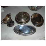 Lot of asst silver plated items
