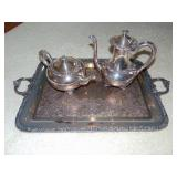 Wilcox New Beverly Manor silver plated tea set