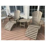 Pair of adirondack outdoor chairs