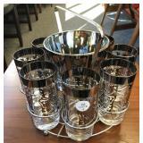 Vintage Ice Bucket /Glasses