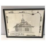 Tenafly, NJ Railroad Station 1874 print