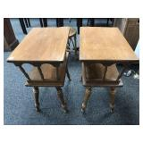 Pair of Vintage Maple Side/Lamp Tables