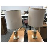 Pair of Brass tone Table Lamps