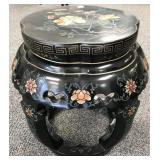 Decorative Chinese Lacquered Side Table