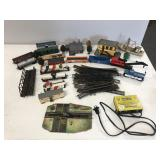 Lot of HO Scale Model Railroad Train and Tracks