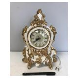Decorative Gold Trimmed Electric Mantel Clock