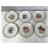Set of 6 Hutschenreuther Selb Germany Pasco Fruit