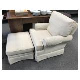 Pembrook Upholstered Chair and Ottoman