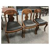 Set of Three Antique Empire Side Chairs