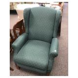 Upholstered Wingback Recliner