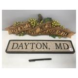 Dayton, MD sign and Live, Love and Laugh Sign