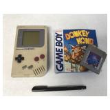 Original Nintendo Gameboy with Donkey Kong and