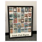 Framed Irish Pub Signs Poster