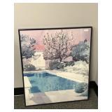 Framed wall décor - Pool scene